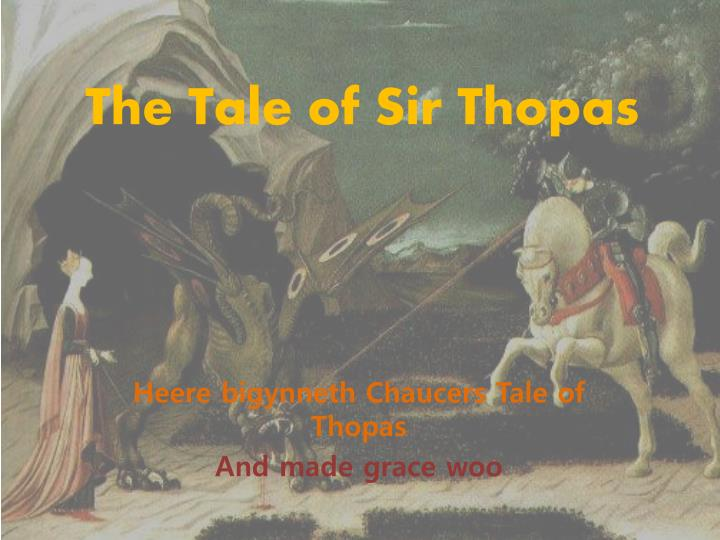 the tale of sir thopas n.