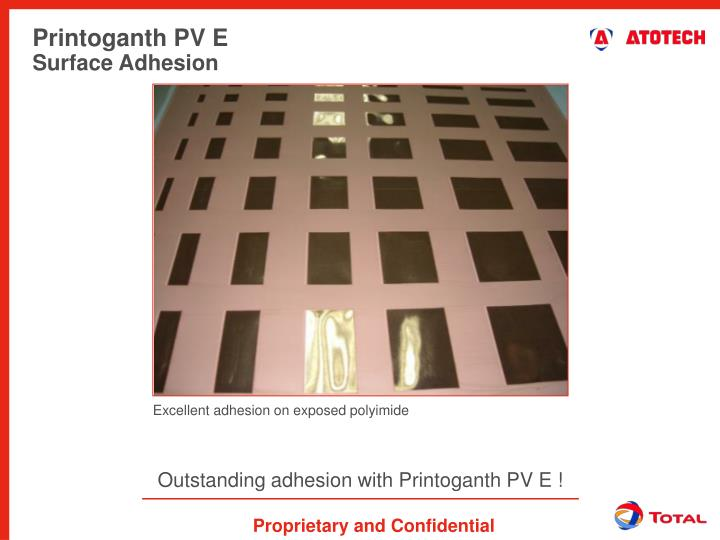 Outstanding adhesion with Printoganth PV E !