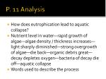 p 11 analysis