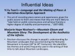 influential ideas