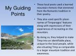 my guiding points