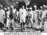 gandhi leading a non violent march