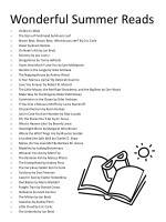 wonderful summer reads