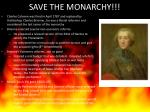 save the monarchy