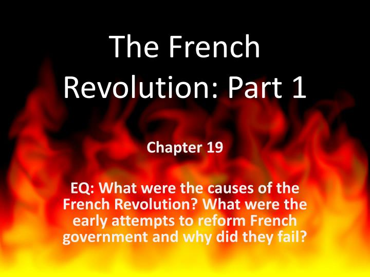 the french revolution part 1 n.