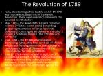 the revolution of 1789