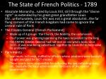 the state of french politics 1789