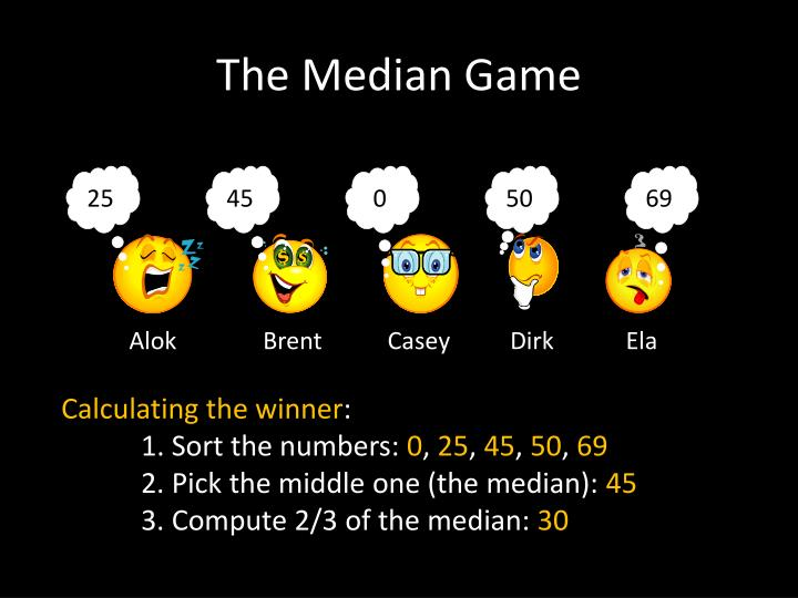 The Median Game