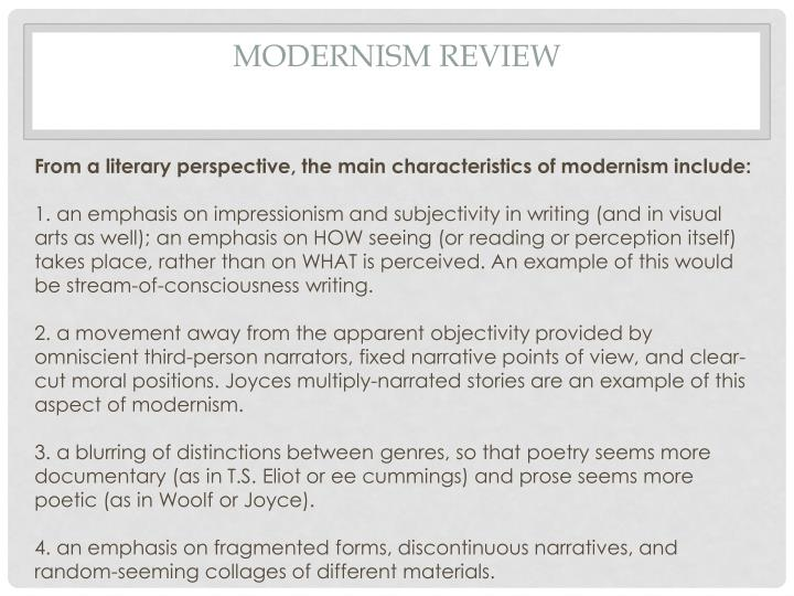 Modernism Review