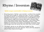 rhyme inversion