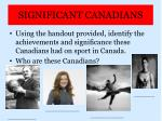 significant canadians