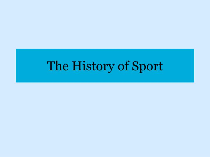 the history of sport n.