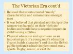 the victorian era cont d