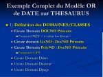 exemple complet du mod le or de date sur thesaurus