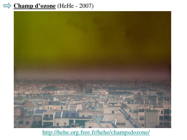 Champ d'ozone