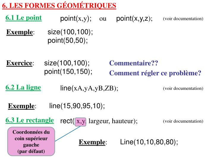 6. Les formes géométriques
