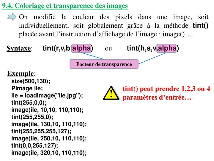 9.4. Coloriage et transparence des images