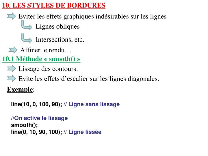 10. Les Styles de bordures