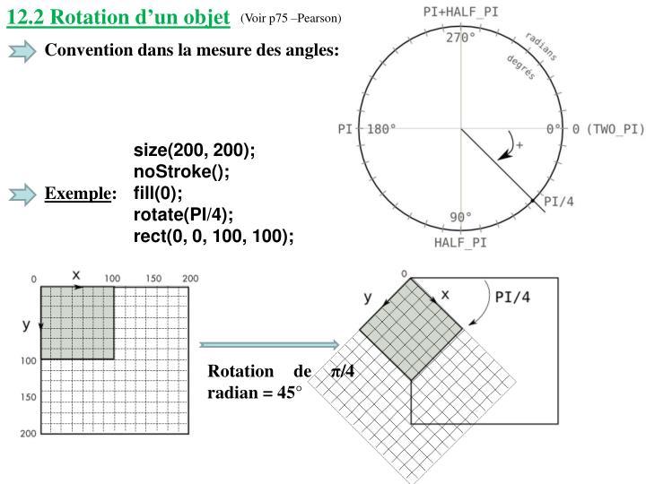 12.2 Rotation d'un objet