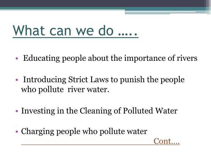 What can we do …..