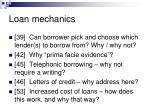 loan mechanics