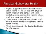 physical behavioral health1