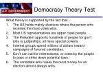 democracy theory test