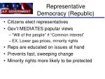 representative democracy republic