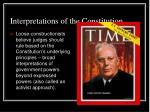 interpretations of the constitution1