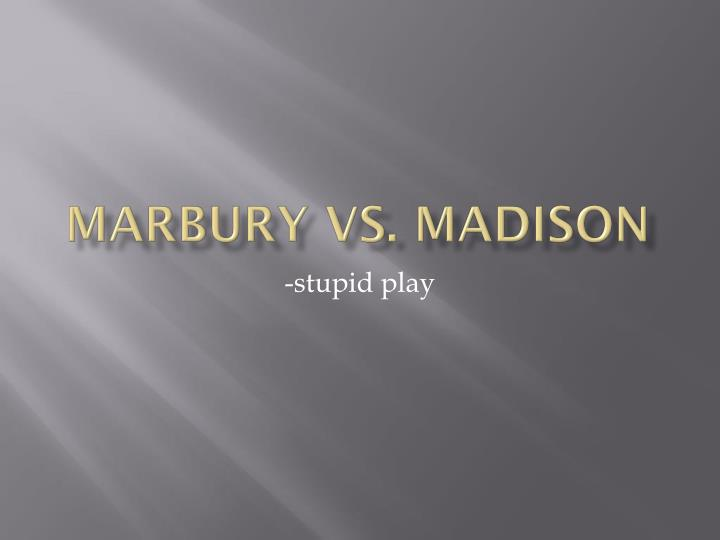 marbury vs madison n.