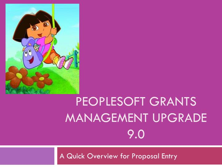 peoplesoft grants management upgrade 9 0 n.