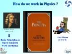 how do we work in physics