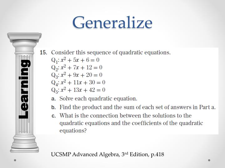 Generalize