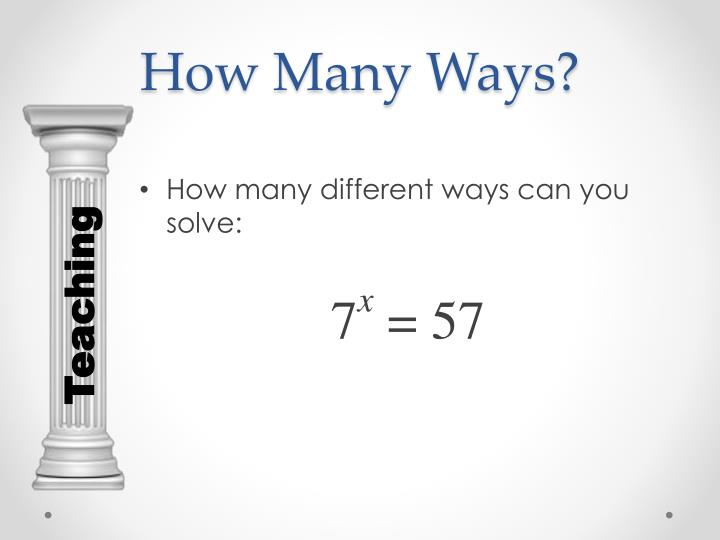 How Many Ways?