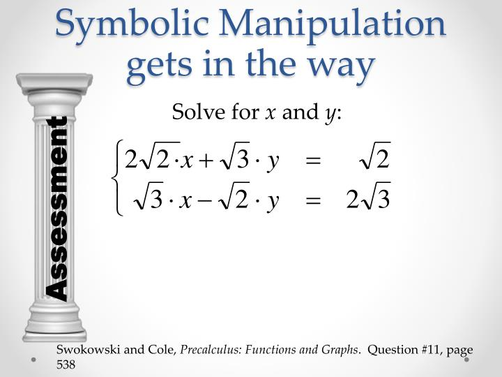Symbolic Manipulation gets in the way