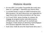 histoire r cente