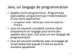 java un langage de programmation
