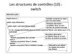 les structures de contr les 10 switch