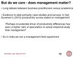 but do we care does management matter