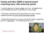 conley and udry 2008 is based around a learning story with some key points