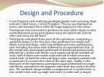 design and procedure