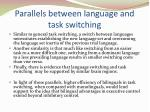 parallels between language and task switching