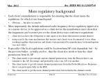 more regulatory background
