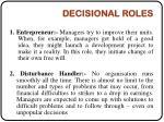 decisional roles