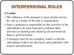 interpersonal roles1