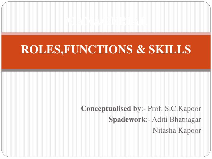 managerial roles functions skills n.