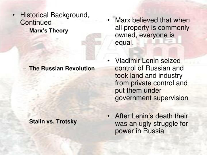 Historical Background, Continued