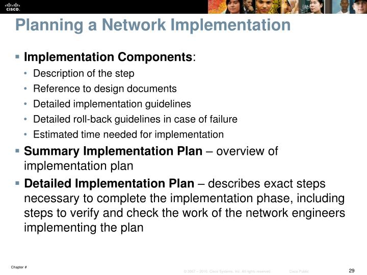 Planning A Network Implementation