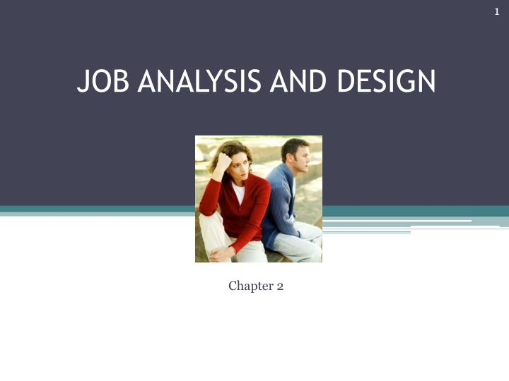 job analysis and design n.