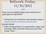 bellwork friday 11 30 2012